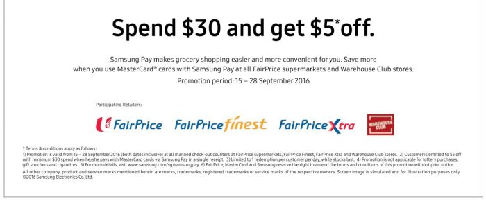 http://latestpromotion.com/2016/09/17/spend-min-30-at-ntuc-fairprice-and-get-5-off-when-pay-by-mastercard-using-samsung-pay/